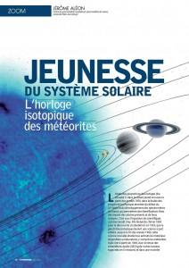 L'horloge isotopique des météorites