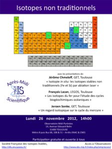 Affiche SFIS novembre 2012